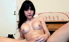 busty-shemale-toys-her-fiery-ass-and-milks-her-hard-dick