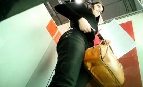Attractive Amateur Brunette Changes Clothes On Hidden Cam