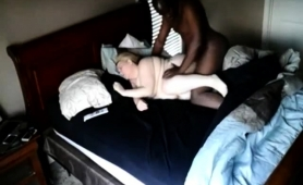 Chubby Amateur Blonde Has A Black Stud Hammering Her Pussy