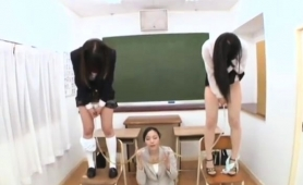 nasty-asian-teacher-drinks-a-hot-load-of-piss-in-classroom