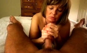 Sensuous Mature Wife Works Her Skillful Hands On A Pov Cock