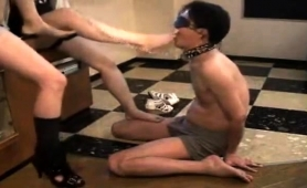 two-dominant-girls-make-a-blindfolded-slave-lick-their-feet