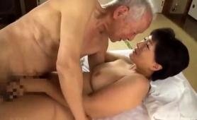 Lustful Asian Wife With Big Boobs Has Sex With An Old Man